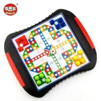 儿童磁性飞行棋大号便携式抽屉游戏棋幼儿园跳棋玩具子礼物