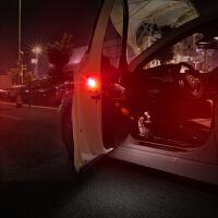 适用于汽车车门安全警示灯宝马改装 LED免接线爆闪追尾装饰灯 开启安全撞警示灯 【车门警示灯-无损安装】2颗装