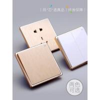 【支持礼品卡】开关插座面板一开单控五孔二三插86型家用墙壁开关电源5孔4dm