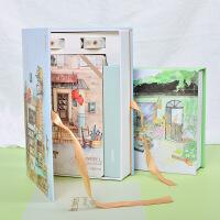 创意手账本韩国小清新套装笔记本子简约旅行日记本文具礼盒记事本
