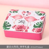 2019新款喜糖盒生日礼物婚礼糖果礼口铁盒包装盒结婚用品 马口铁糖盒【买10个送2个】