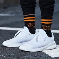 李宁休闲鞋男鞋新款透气一体织小白鞋篮球运动鞋AGBN011