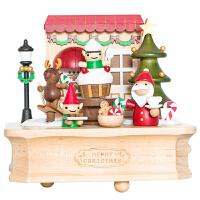 音乐盒八音盒木质送女孩儿童生日520情人节礼物小熊旋转