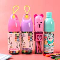 水彩笔12色套装幼儿园彩色笔儿童文具儿童可水洗绘画批��毕业礼品
