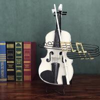 ?复古铁艺小提琴模型创意家居摆设客厅办公室酒柜酒吧乐器装饰摆件