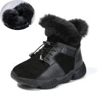 №【2019新款】冬天小朋友穿的儿童鞋子女童靴子雪地靴加绒小女孩短靴棉鞋中大童