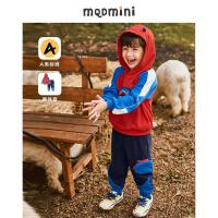 【2件3折后价:240】MQD童装男小童21秋装卡通连帽套头卫衣两件套针织长裤小孩子套装