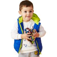 美特斯邦威旗下 moomoo童装秋冬装儿童马甲男女幼童夹棉加厚保暖连帽马甲糖果色