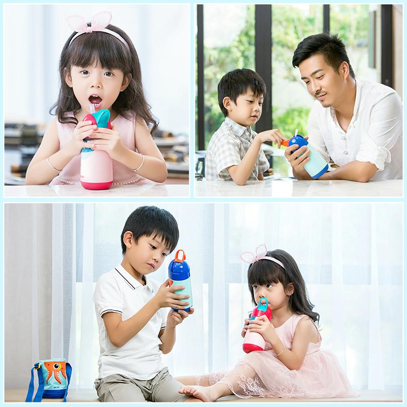 儿童保温杯吸管杯不锈钢学生水杯宝宝便携水壶