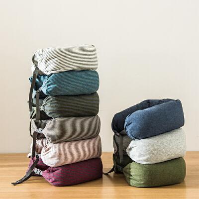 当当优品家纺 纯棉针织U枕 旅行枕午睡颈枕腰枕