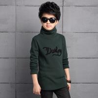 男童高领加绒长袖秋冬韩版儿童加厚纯棉打底衫中大童t恤保暖上衣