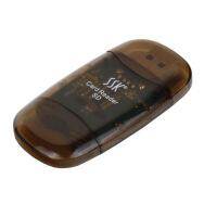 【支持礼品卡支付】飚王(SSK)SCRS026 水晶SD卡读卡器