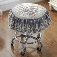 冬季欧式提花蕾丝 布艺圆凳子套罩圆形凳子罩转椅圆坐垫圆垫