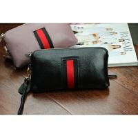 韩版新款大容量手拿包女长款拉链真皮钱包多功能零钱包手机包