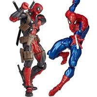 人偶模型玩具蜘蛛侠英雄归来返校季 格温毒液钢铁侠死侍可动