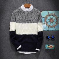 施衣品长袖T恤男韩版男士青少年圆领加厚毛衣针织衫中学生线衣线衫