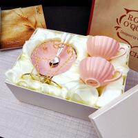 礼盒装咖啡杯带碟欧式骨瓷咖啡杯套装下午茶茶具结婚伴手礼
