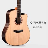 20180914213115412?民谣吉他41寸40寸云杉木面单板木吉他初学者学生男女玫瑰木