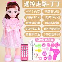 会说话的智能芭芘娃娃洋娃娃套装儿童女孩仿真玩具公主单个套装 走路-460内容丁丁 送15礼