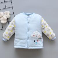 宝宝棉衣上衣加厚春秋6-9-12-18个月男女宝宝棉袄外套单件