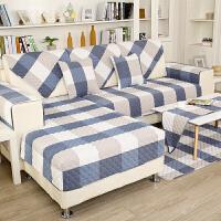全棉沙发垫简约现代布艺田园沙发套四季防滑坐垫