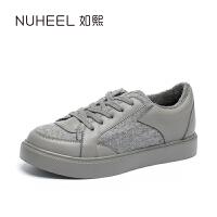 如熙2017秋季新款单鞋女平底鞋运动鞋休闲鞋平跟圆头女鞋板鞋