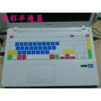 三星15.6寸笔记本电脑NP450R5J-X06CN键盘膜按键保护膜凹凸防尘贴 多彩