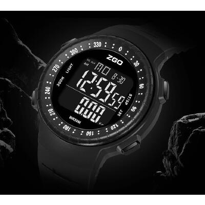 圆形大表盘运动手表男士腕表户外夜光智能计步时尚休闲电子表