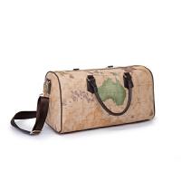 旅行包地图纹衣物袋男轻便出差旅游袋大容量单肩包旅行短途男折叠