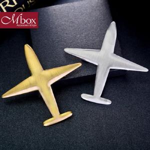 新年礼物Mbox胸针 女款韩国版原创采用时尚飞机元素胸针胸花领针 环游世界