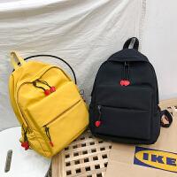 防水帆布双肩包校园学院风书包女高中学生大容量背包
