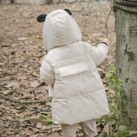 儿童羽绒服中长款男童冬装婴儿女童宝宝加厚外套