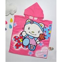 新款婴童浴巾婴儿浴袍儿童卡通浴袍超细纤维连帽浴巾浴袍 均码0-7岁(60*60cm)