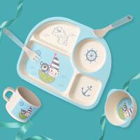 儿童餐具套装宝宝餐盘辅食碗婴儿饭碗分格硅胶勺叉