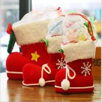 圣诞节装饰品 靴 圣诞装饰用品 小礼物袋 圣诞袜 红色