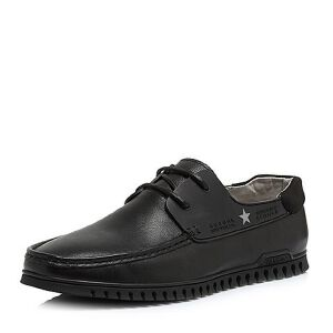 Teenmix/天美意2018夏专柜同款牛皮/织物平跟男休闲鞋2HN01BM8