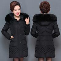 2017冬季新款韩版修身加厚大码羽绒女中长款中老年妈妈装外