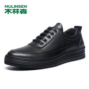 木林森男鞋  男士舒适轻质时尚休闲板鞋 05377353