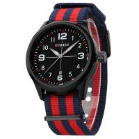 CURREN卡瑞恩8195外贸热卖男士帆布带运动中性流行防水石英手表