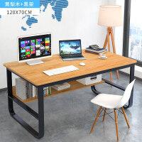 电脑桌台式桌家用简约经济型办公桌简易书桌书架组合家用卧室桌子o6p