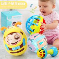 不倒翁玩具婴儿3-6-9-12-24个月宝宝小孩0-1岁大号不到翁5-7 +健身球2件套+声光球