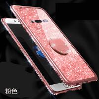 三星s8手机壳SM-G9500硅胶保护套全包边防摔软壳镶钻带闪粉女潮