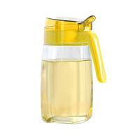 【当当自营】谜家 厨房用品600ml大号防漏家用玻璃油壶油瓶酱油醋壶调料瓶调料壶 黄色