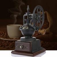 磨豆机 咖啡豆磨粉器 手摇复古铸铁磨豆咖啡机 古典咖啡器具A898