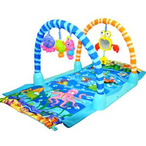 【当当自营】炫梦奇 音乐健身架 多功能早教机儿童婴儿益智玩具灯光音乐 海洋世界爬行钻洞健身架