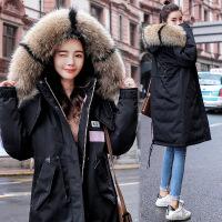 冬天外套女加厚棉袄2018冬装新款韩版工装学生中长款羽绒棉