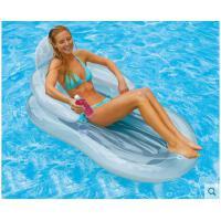 充�獯脖�y透明靠背躺椅浮床 �和��蛩�可折�B沙�┖��|浮排水上充�獯�