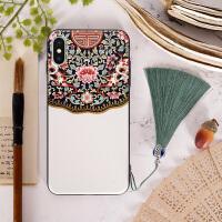 buer中国风复古iphone6s手机壳苹果7P流苏6P全包X浮雕保护套8plus