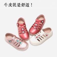 女童皮鞋镂空凉鞋真皮公主鞋2019新款春夏季韩版时尚中大童儿童鞋