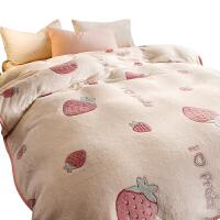 毛毯被子加厚冬季保暖珊瑚绒法兰绒毯子学生宿舍
